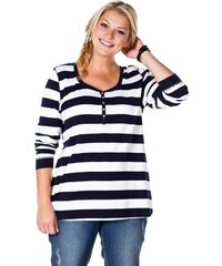 Damen Casual Shirt im Streifenlook SHEEGO CASUAL blau 40/42,44/46,48/50,52/54,56/58