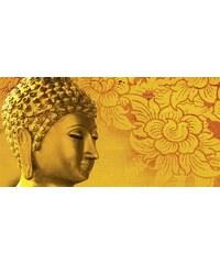 Leinwandbild P. Kraichana: Buddha Goldstatue in Thailand 100/50 cm HOME AFFAIRE rot