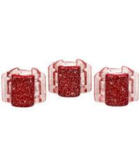 Linziclip Mini Hair Clip Gumičky do vlasů W Skřipec do vlasů - Odstín Red Glitter