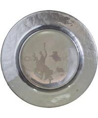 Green Gate Skleněný talíř Silver pearl 25 cm