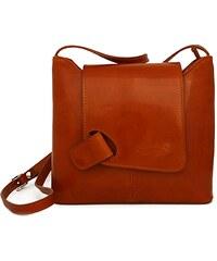 Kožená kabelka L Artigiano 8141 camel