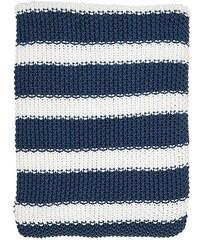 Green Gate Pletená deka Stripe indigo