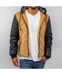 Just Rhyse Quilted Winter Jacket Beige/Black