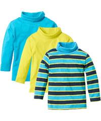 bpc bonprix collection T-shirts col roulé (lot de 3) vert manches longues enfant - bonprix