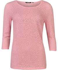 Golddigga Lace Three Quarter Sleeved Top Ladies, pastel pink