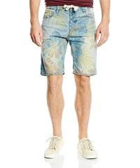i-wear Herren Jeans Shorts mit Blumen-Print
