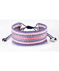 Mishky Bracelet De Perles Et Fils Tissés Roses Et Violets - Collage Purple Pink