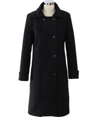 CHICWISH Dámský kabátek Minimal Elegance černý