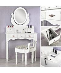 Lesara Coin beauté avec miroir et tiroirs