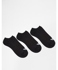 adidas Originals - Füßlinge im 3er-Set mit Kleeblattlogo - Schwarz