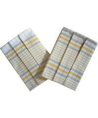Svitap Utěrky z egyptské bavlny Kostka bílo/žlutá - 3 ks