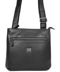 Pánská kožená taška přes rameno Hexagona 854014 - černá