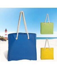 Lesara Strandtasche mit Kordelhenkeln - Gelb