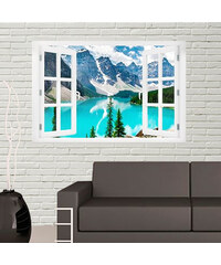Lesara Sticker mural avec effet 3D Montagne