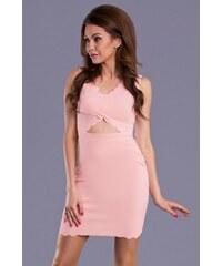 emamoda Dámské šaty Raxy růžové - růžová