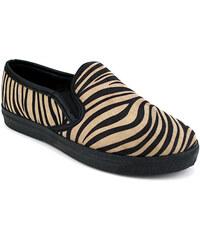 Basket Slippers ZEBRA Noir - Cendriyon