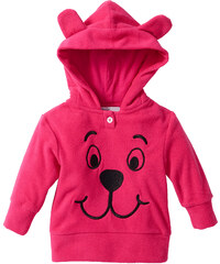 bpc bonprix collection Baby Fleecepullover, Gr. 56/62-104/110 langarm in pink für Damen von bonprix