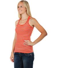 TopMode Pruhované tílko s krajkou na zádech tmavě oranžová