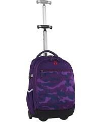 TAKE IT EASY® Rucksack mit Teleskoparm, »Barcelona Camouflage Purple«