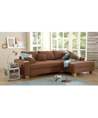 Ecksofa wahlweise mit Bettfunktion HOME AFFAIRE 1 (=natur),5 (=mokka)