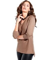 Damen Création L Pullover mit quergestrickten Maschen CRÉATION L braun 36,40,42,46,48,50,52