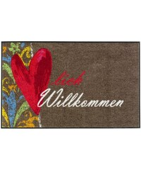 Fußmatte Herzlich Willkommen wash & dry braun ca. 60/180 cm,ca. 60/85 cm,ca. 75/120 cm,ca. 75/190 cm
