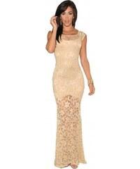 Chic Dresses Dámské šaty LC6350-1 světle žluté