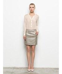 PRIVEE SKIRT Dámská sukně P414152_SILVER