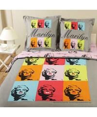 Parure housse de couette 100% coton - Marilyn Monroe Multicolor - nr 6 - 200x200 cm + 2 taies d'oreiller 65x65 cm