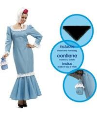 Kostým Madridská žena modrá Velikost M/L 42-44