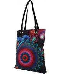 BELLA BELLY Barevná kabelka na rameno s černými ramínky 402-BB