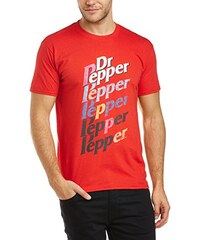 Dr Pepper Herren T-Shirt 46B. Dr Pepper Multi Logo, Einfarbig