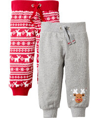bpc bonprix collection Lot de 2 pantalons sweat bébé en coton bio gris enfant - bonprix