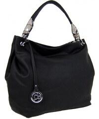 New Berry Veká kabelka přes rameno s hadím ramínkem 8003 černá