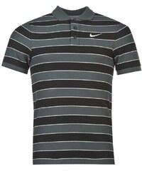 Polokošile pánská Nike Striped Charcoal/White