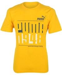 Puma QTT Vanish 1948 T Shirt Mens Yellow/Denim