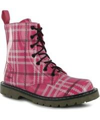 Golddigga Patent Boots Ladies Pink Check