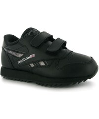 Reebok Classic Etched Childrens Trainers Black/Silver