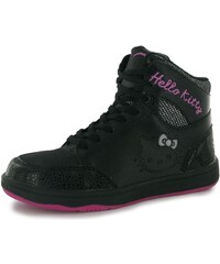 Hello Kitty Kitty Hi Top Childrens Trainers Black