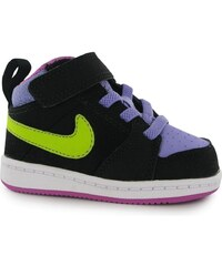 Nike Capri 3 Mid Leather Infants Trainers Black/Green