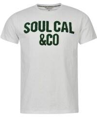Triko pánské SoulCal Boucle White