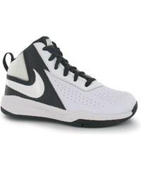 Nike Team Hustle D7 Childrens Hi Top Trainers White/Black