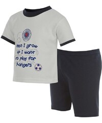 Rangers FC Fun Pyjamas Infant Boys White/Navy