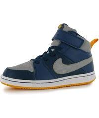 Nike Backboard 2 Mid Childrens Hi Top Trainers Blue/Grey/Orng