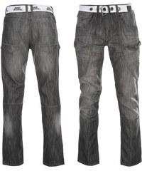 No Fear Belted Cargo Jeans pánské Black