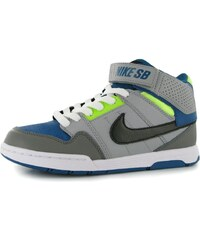 Nike Mogan Mid 2 Junior Skate Shoes Grey/Blk/Volt