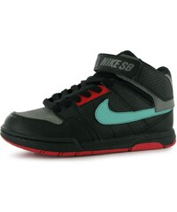 Nike Mogan Mid 2 Junior Skate Shoes Black/Mint/Red