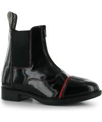 Brogini Patent Jodhpur dámské Boots Black/Red