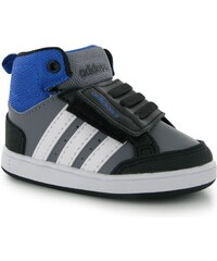 adidas Neo Hoops Mid Infants Trainers Boys Grey/Wht/Black