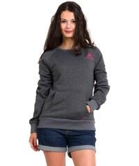 Mikina fleecová dámská WOOX Tune Fleece Sweatshirt Noon